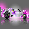 3D Girly Cool Car