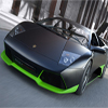 Black Green Car